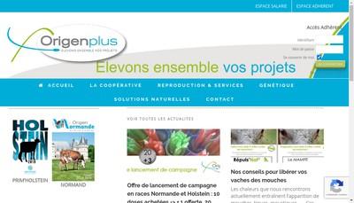 Site internet de Origenplus