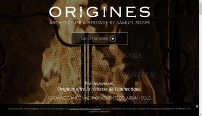 Site internet de Origines