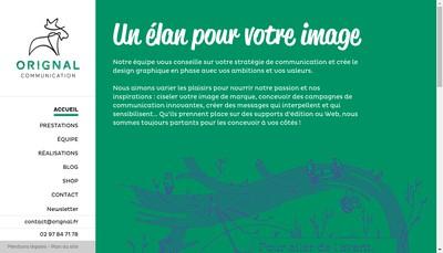 Site internet de Orignal Communication