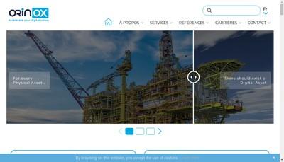 Site internet de Orinox Ingenierie