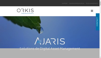 Site internet de Orkis