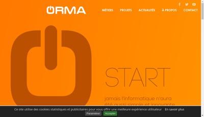 Site internet de Group Orma