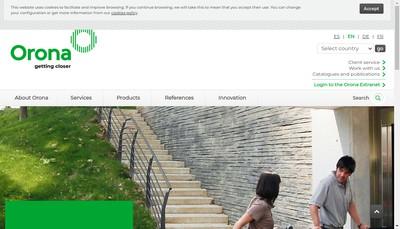 Site internet de Orona Ile de France
