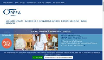 Site internet de Orpea