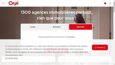 Site internet de Orpi Orthez Immobilier