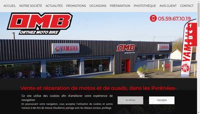 Site internet de SARL Orthez Moto Bike