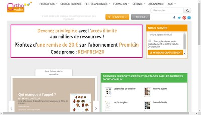 Site internet de Orthomalin