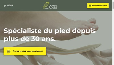 Site internet de Orthopedie Chauveau