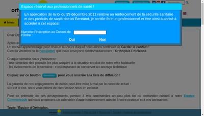 Site internet de Ortho Plus