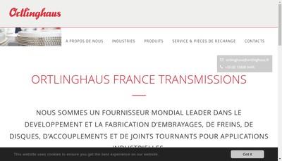 Site internet de Ortlinghaus France Transmissions