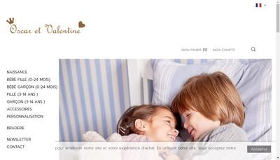 Site internet de Oscar et Valentine