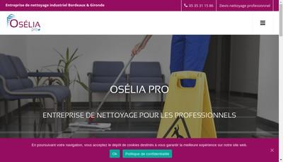 Site internet de Oselia Pro