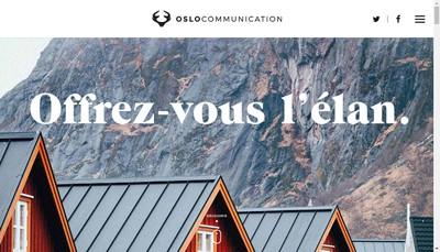 Site internet de Oslo Communication