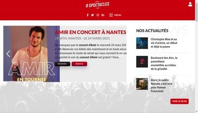 Site internet de O Spectacles