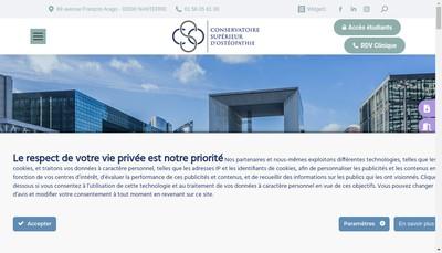 Site internet de Conservatoire Superieur d'Osteopathie