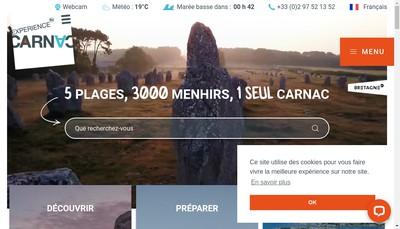 Site internet de Office de Tourisme de Carnac