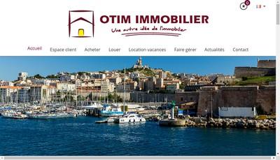Site internet de Otim Immobilier