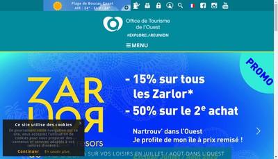 Site internet de Office de Tourisme de l'Ouest