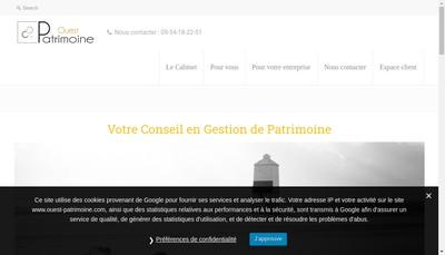 Site internet de Ouest Patrimoine