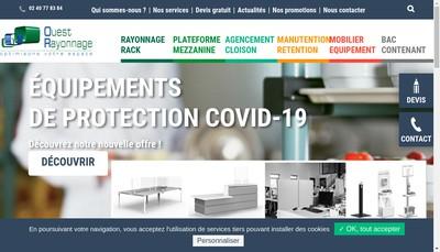 Site internet de Ouest Rayonnage