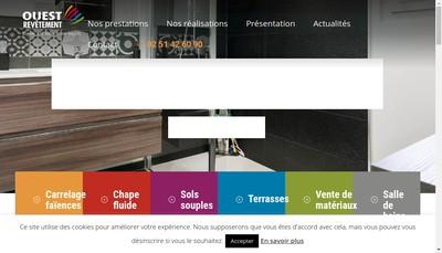 Site internet de Augereau Carrelages