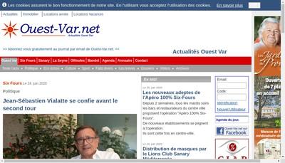 Site internet de Ouest-Var Net