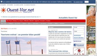 Site internet de Six-Fours Net Portail Immobilier