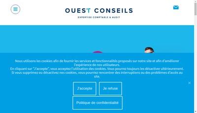 Site internet de Ouest Conseils Vannes