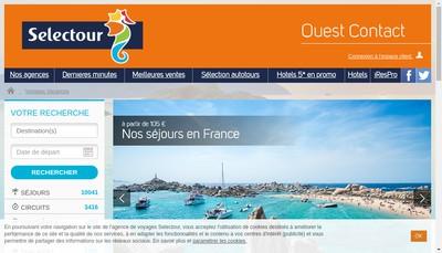 Site internet de Ouest Contact