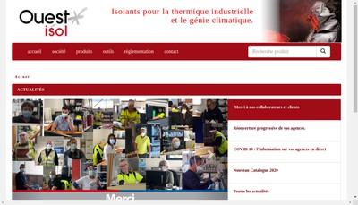Site internet de Ouest Isol