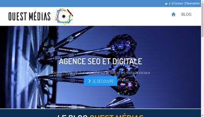 Site internet de Ouest Medias