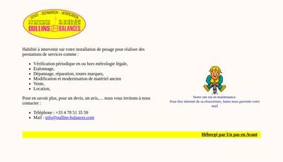 Site internet de Oullins Balances