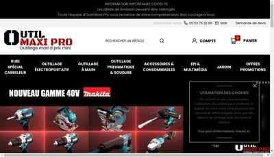 Site internet de Outillage 47