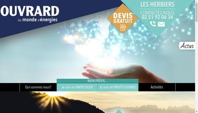 Site internet de Ouvrard Batiment - Entreprise Ouvrard - Ouvrard Habitat et Energies