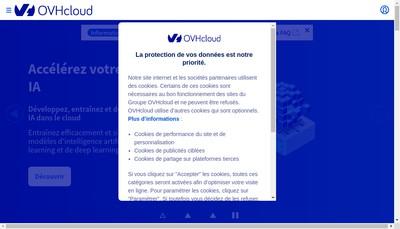 Site internet de Ovh