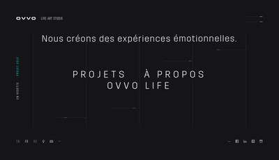 Site internet de Ovvo Studio