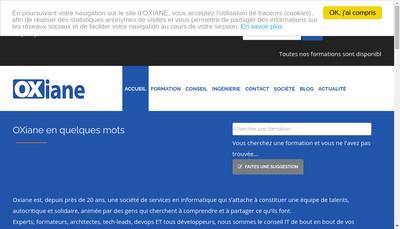 Site internet de Oxiane