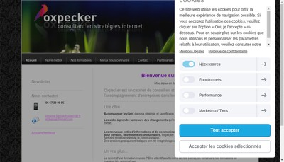 Site internet de Oxpecker
