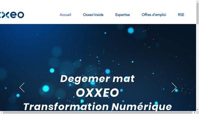 Site internet de Oxxeo Consulting
