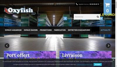 Site internet de Aquazur Concept
