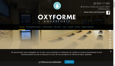 Site internet de Oxyforme