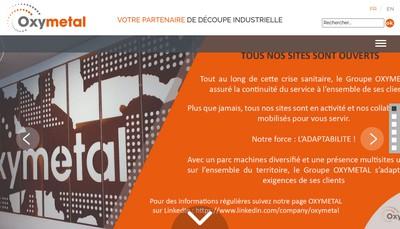 Site internet de Oxymetal Normandie
