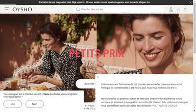 Site internet de Oysho France