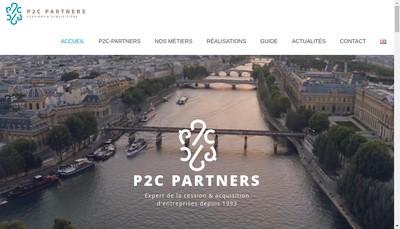 Site internet de P2C - Partners