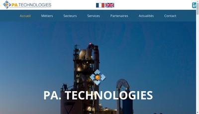 Site internet de PA Technologies