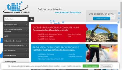 Site internet de Paartner Formation