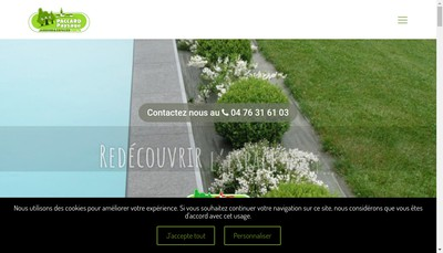 Site internet de Paccard Paysage