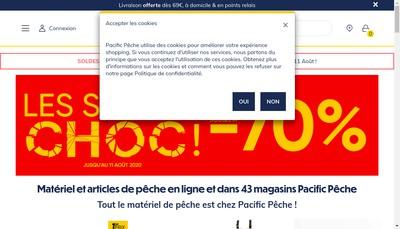 Site internet de Pacific Peche