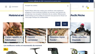 Site internet de Pacific Store