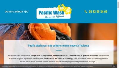 Site internet de Pacific Wash